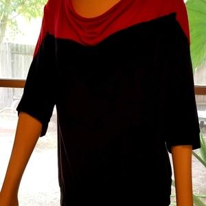 Black and red top